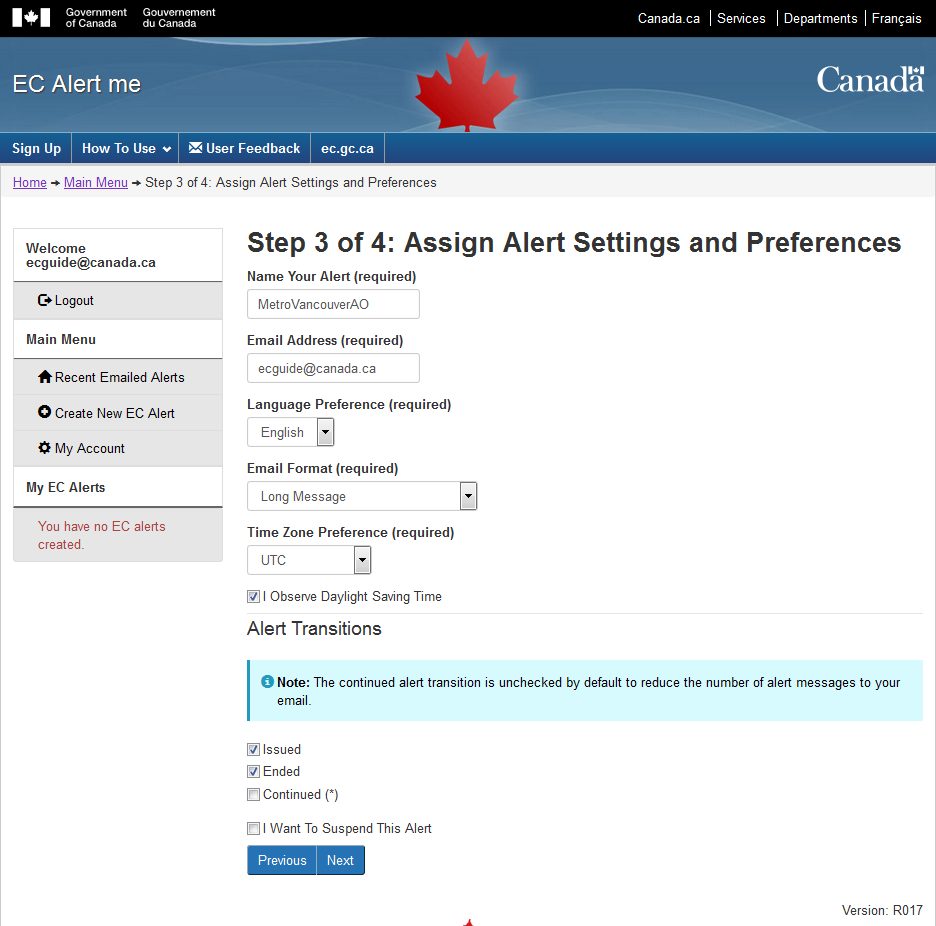 Step 3 of 4: Assign Alert Settings and Preferences
